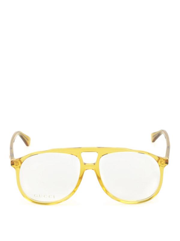 iKRIX Gucci: glasses - Yellow acetate optical glasses