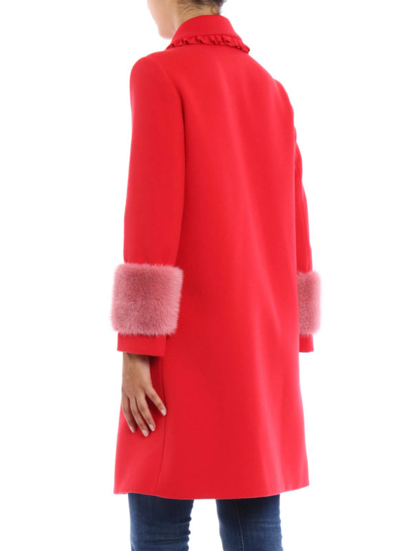 iKRIX Gucci: knee length coats - Mink fur detailed wool coat