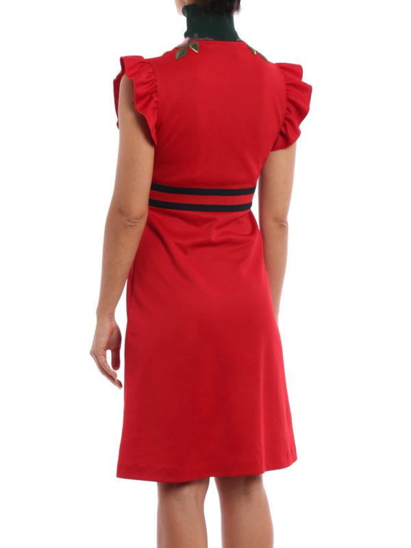 iKRIX Gucci: Knielange Kleider - Knielanges Kleid - Rot