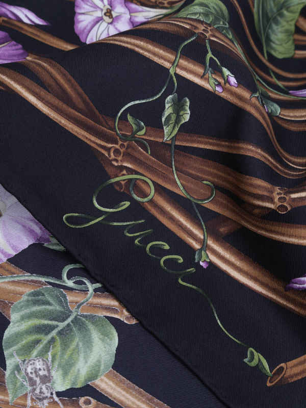 iKRIX GUCCI: scarves - Bamboo flower print scarf