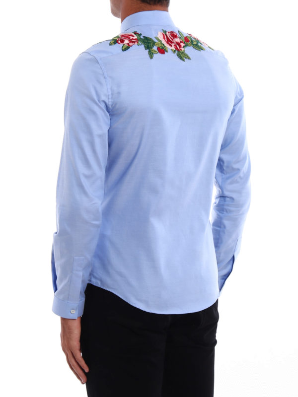 iKRIX Gucci: shirts - Duke embroidered cotton shirt