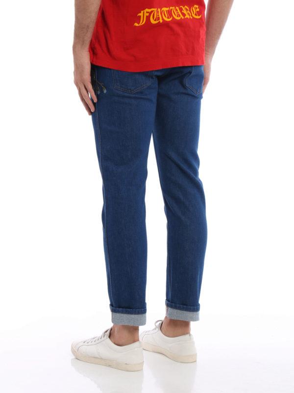 iKRIX Gucci: Straight Leg Jeans - Straight Leg Jeans - Dark Wash
