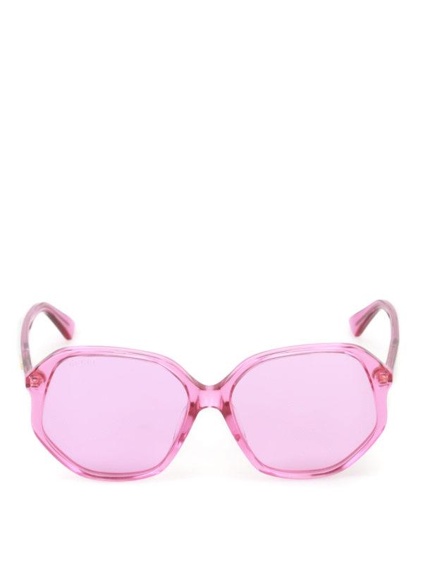 iKRIX Gucci: sunglasses - Fuchsia geometric sunglasses