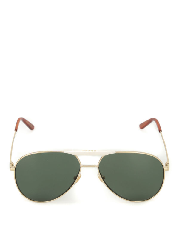 iKRIX Gucci: sunglasses - Golden metal aviator sunglasses