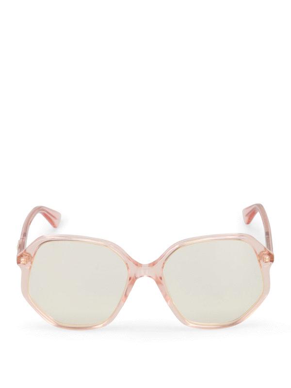 iKRIX Gucci: sunglasses - Light orange geometric sunglasses