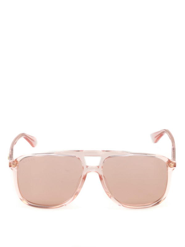 iKRIX Gucci: sunglasses - Light orange square sunglasses