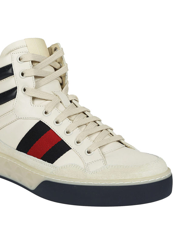 iKRIX GUCCI: trainers - High-top Web detailed sneakers