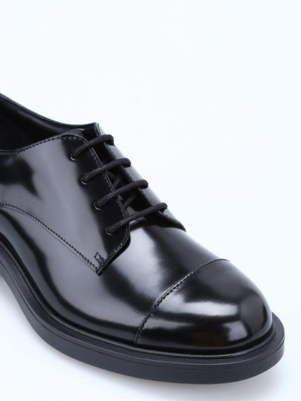 iKRIX HOGAN: lace-ups shoes - H 332 glossy leather lace-ups