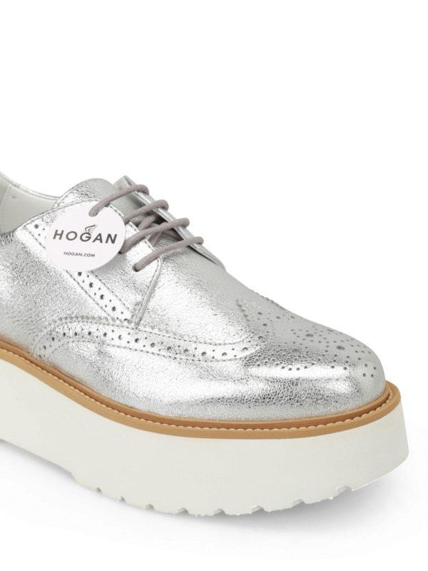 iKRIX HOGAN: lace-ups shoes - H355 metallic leather Derby shoes