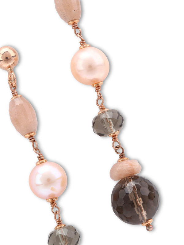iKRIX I Pregi: Earrings - Adularia, pearls Silver earrings
