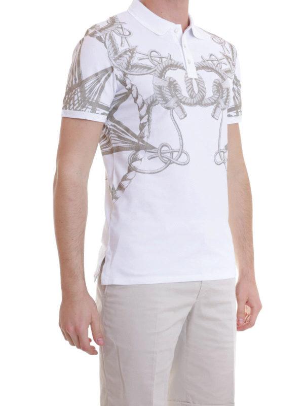 iKRIX Just Cavalli: polo shirts - Sea pattern printed polo