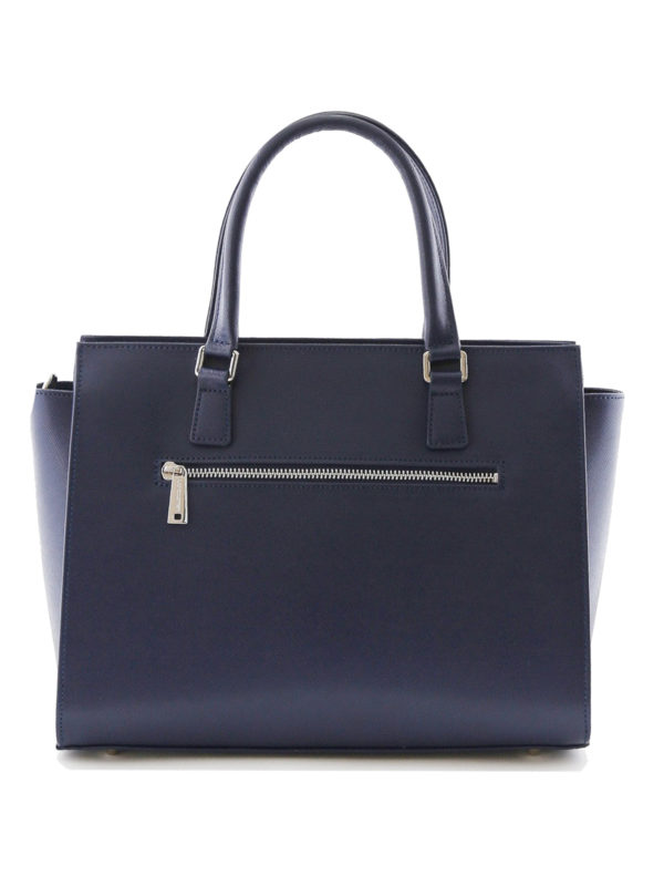 iKRIX LANCASTER: totes bags - Blue Saffiano leather tote