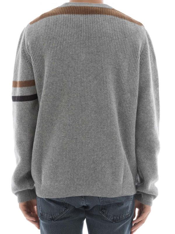 iKRIX Lanvin: Strickpullover mit V-Ausschnitt - V-Pullover - Grau