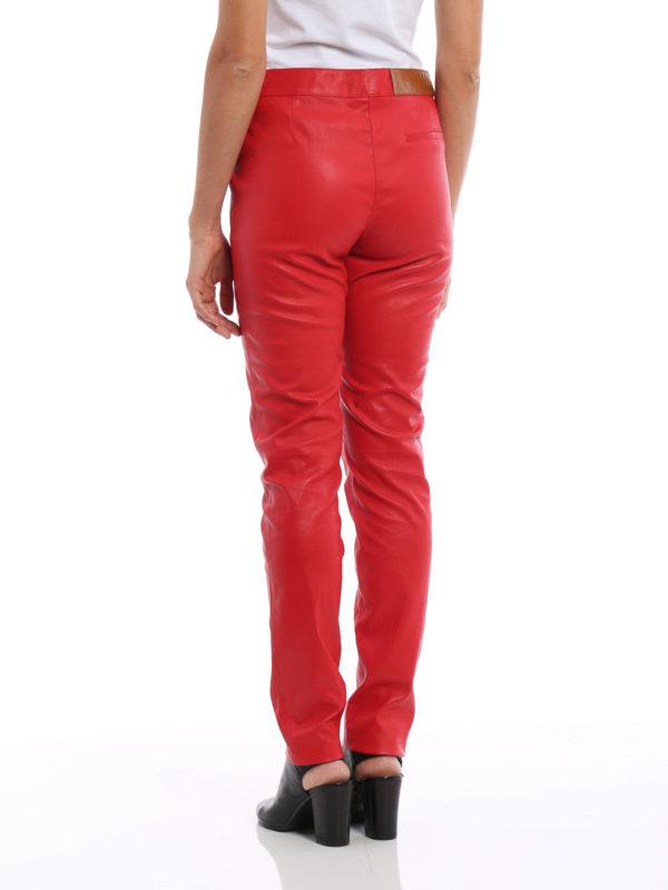 iKRIX Loewe: Lederhosen - Lederhose - Rot