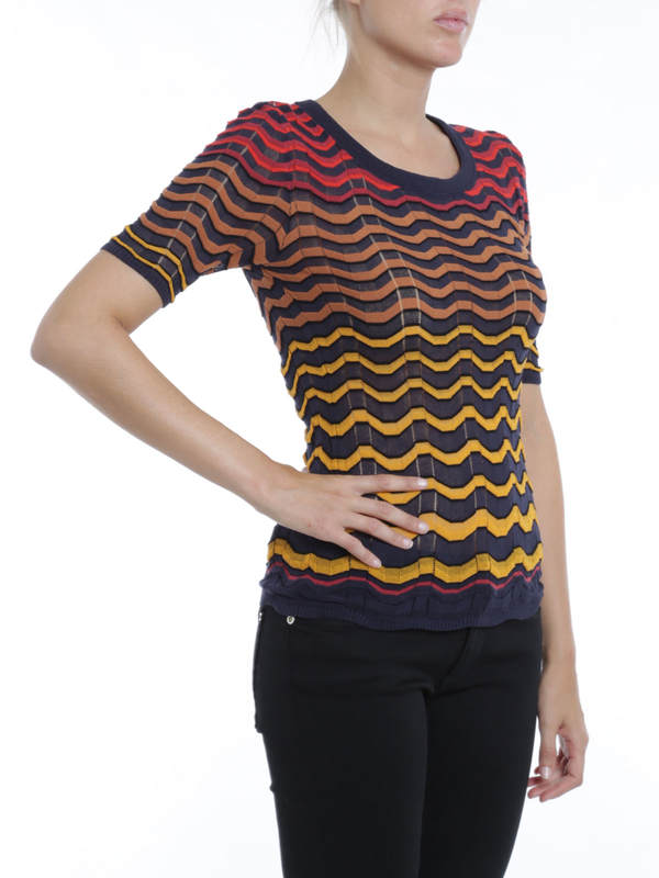iKRIX M Missoni: t-shirts - Wave striped t-shirt