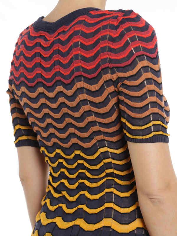 iKRIX M Missoni: Wave striped t-shirt