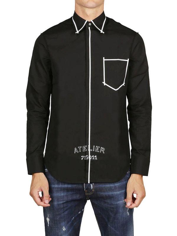 iKRIX Maison Margiela: Hemden - Hemd - Schwarz