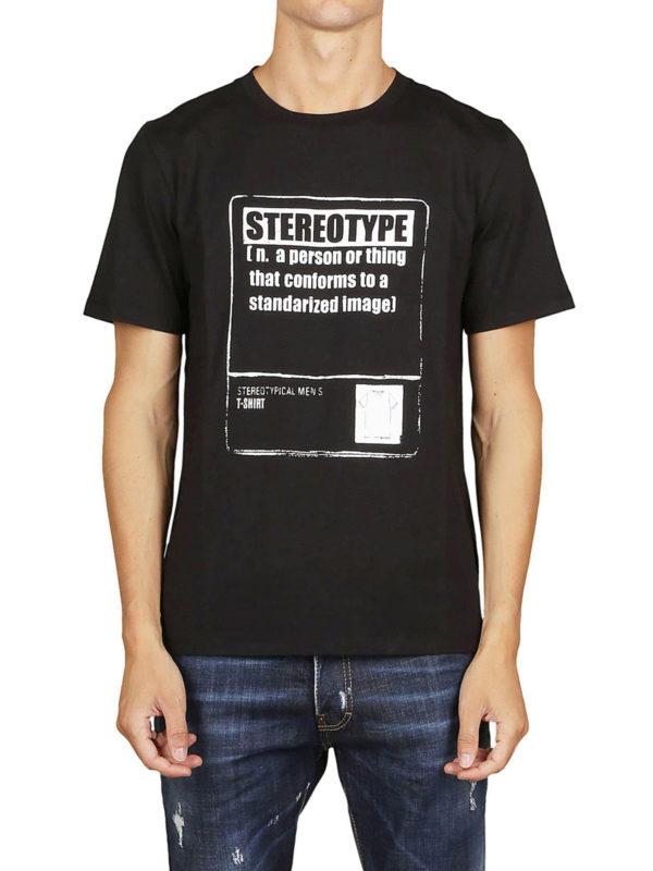 iKRIX Maison Margiela: T-shirts - T-Shirt - Schwarz