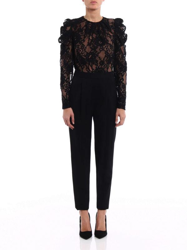 Michael Kors Floral Lace Long Sleeve Jumpsuit
