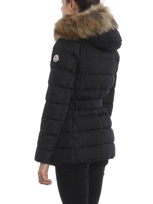 iKRIX MONCLER: padded coats - Clio fur detailed padded coat