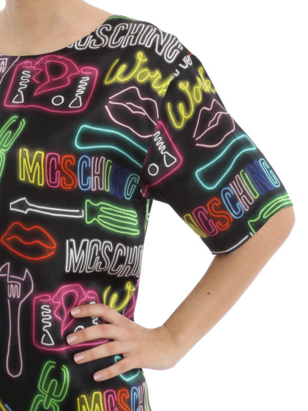 iKRIX Moschino Couture: Printed silk tunic
