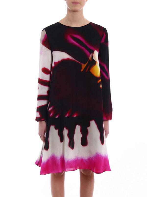 iKRIX MOSCHINO: knee length dresses - Printed organdie flared dress