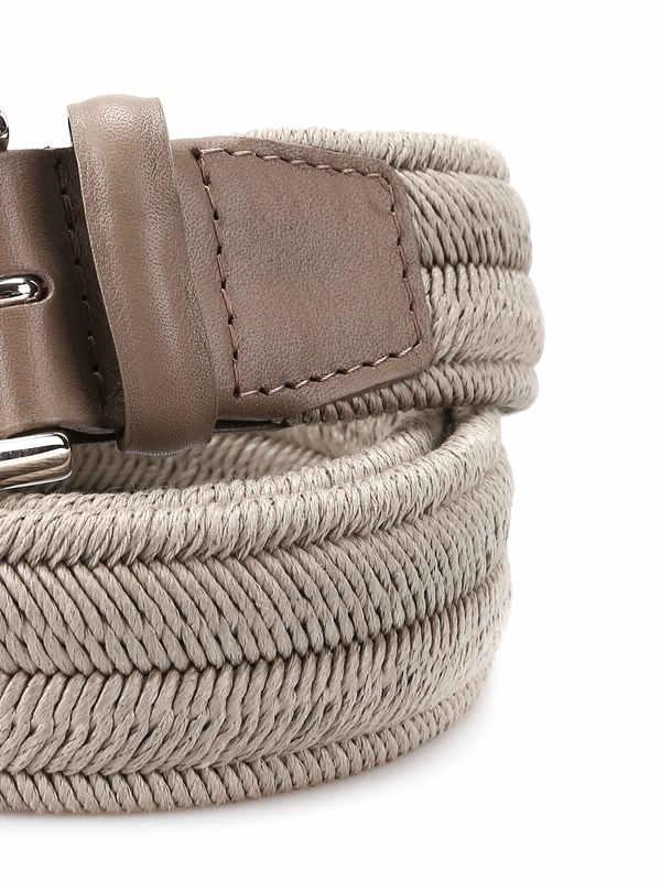 iKRIX Orciani: belts - Rope Elast Linen belt