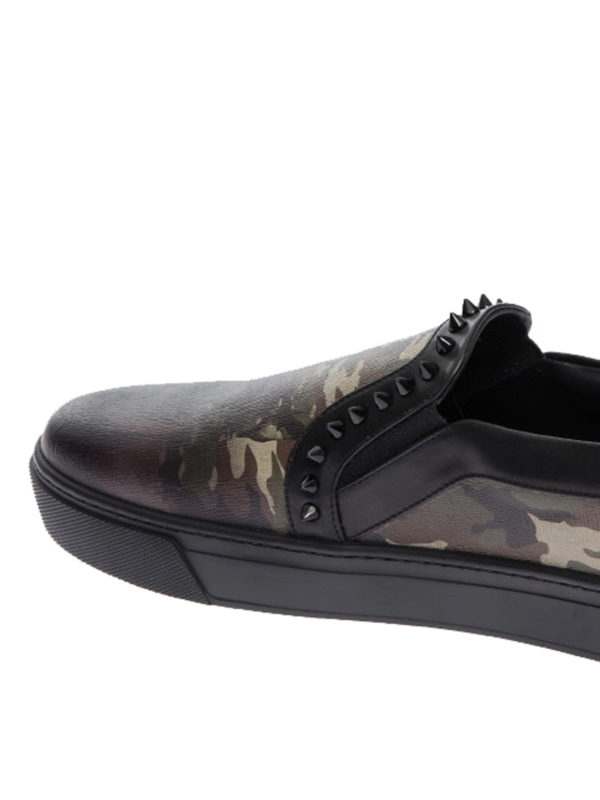 iKRIX PHILIPP PLEIN: Mokassins und Slippers - Slippers - Gemustert