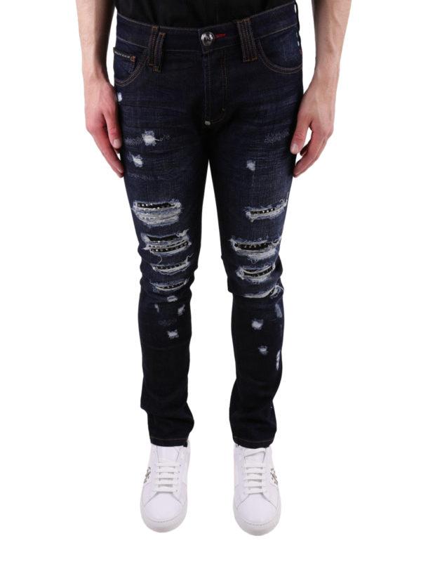 iKRIX PHILIPP PLEIN: Straight Leg Jeans - So Much I - Dunkles Jeansblau