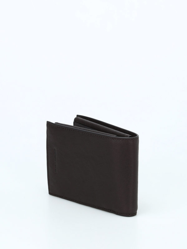 iKRIX PIQUADRO: wallets & purses - Brown leather anti-fraud wallet
