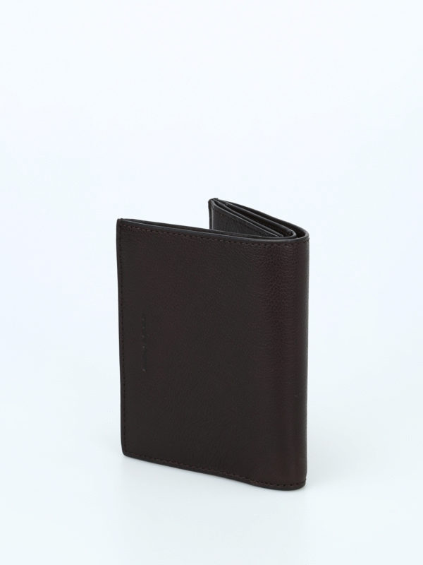 iKRIX PIQUADRO: wallets & purses - Document and card brown wallet