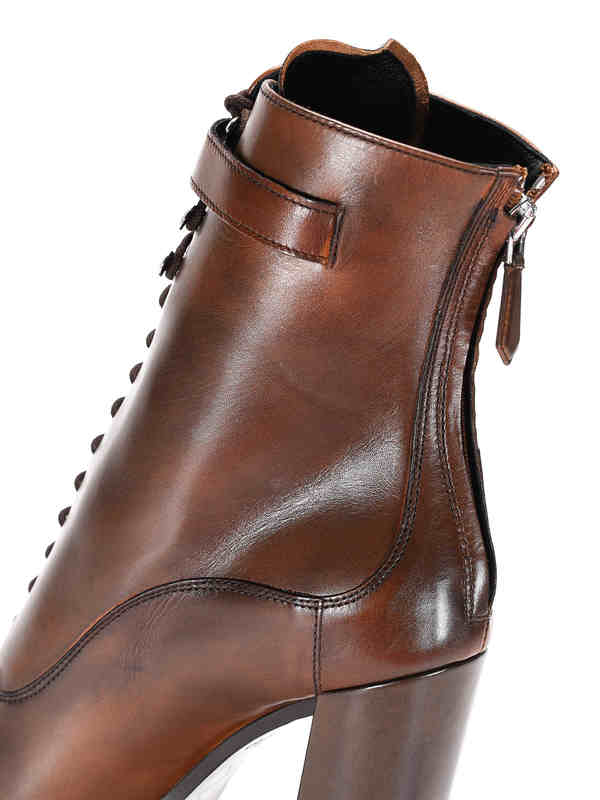 iKRIX Prada: ankle boots - Lace-up leather ankle boots