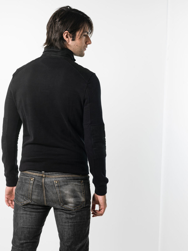 iKRIX Ralph Lauren Black Label: Sweatshirts & Sweaters - Sweatshirt with leather details