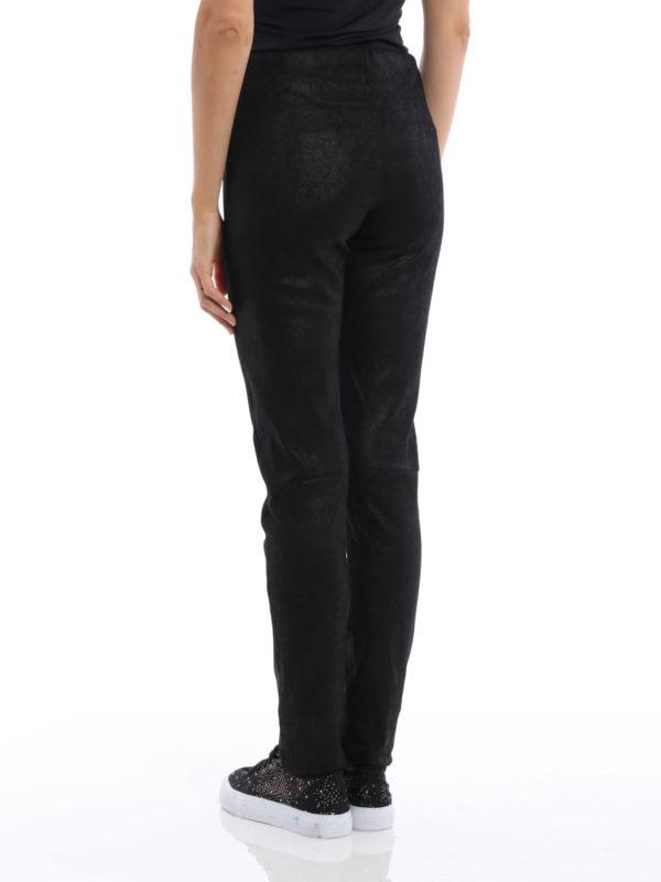 iKRIX Rick Owens: Lederhosen - Lederhose - Einfarbig