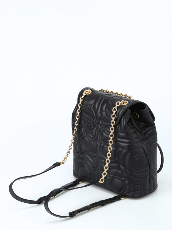 iKRIX SALVATORE FERRAGAMO: backpacks - Gancini quilted small backpack