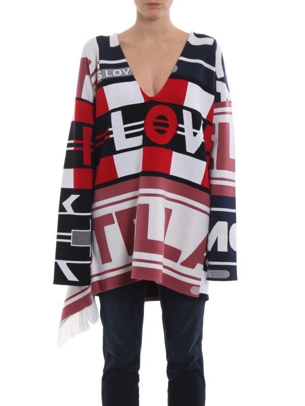 iKRIX STELLA McCARTNEY: Strickpullover mit V-Ausschnitt - V-Pullover - Bunt