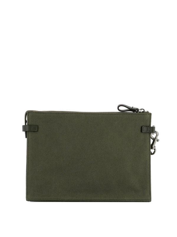 iKRIX VALENTINO GARAVANI: clutches - VLTN army green canvas pouch