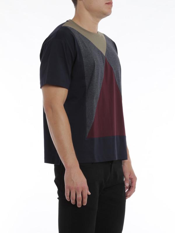 colour block design t shirt by valentino t shirts ikrix. Black Bedroom Furniture Sets. Home Design Ideas