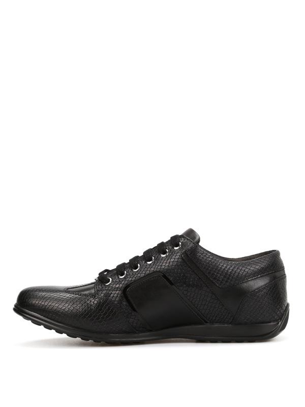 iKRIX Versace Collection: Sneaker - Ledersportschuhe mit Python-Print