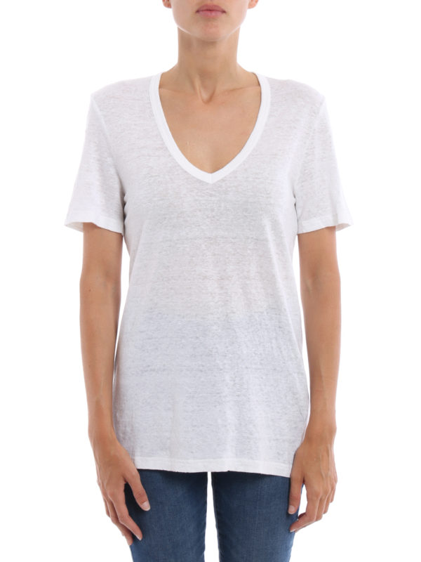 Isabel Marant Etoile: T-shirts online - T-Shirt - Weiß