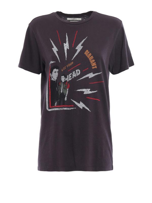isabel marant etoile: T-shirts - T-Shirt - Dunkelgrau