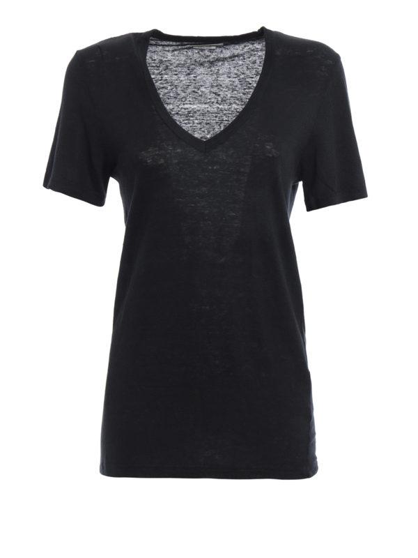 isabel marant etoile: T-shirts - T-Shirt - Schwarz