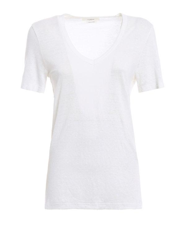 Isabel Marant Etoile: T-shirts - T-Shirt - Weiß
