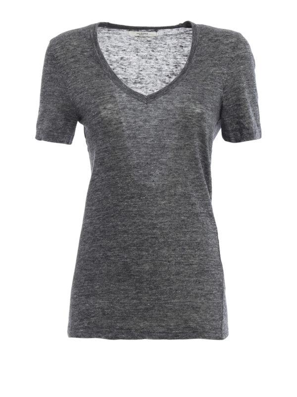 isabel marant etoile: T-shirts - T-Shirt - Grau