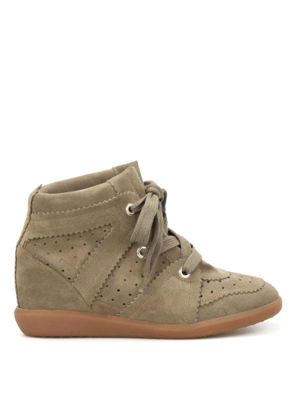 Isabel Marant: Sneaker - Sneaker - Dunkelgrün