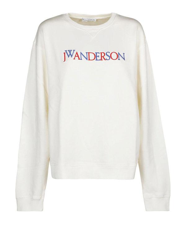 J.W. ANDERSON: Sweatshirts und Pullover - Sweatshirt - Weiß