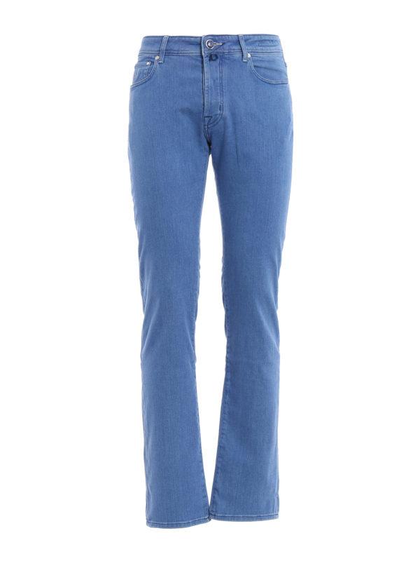jacob cohen straight leg jeans hellblau straight leg. Black Bedroom Furniture Sets. Home Design Ideas