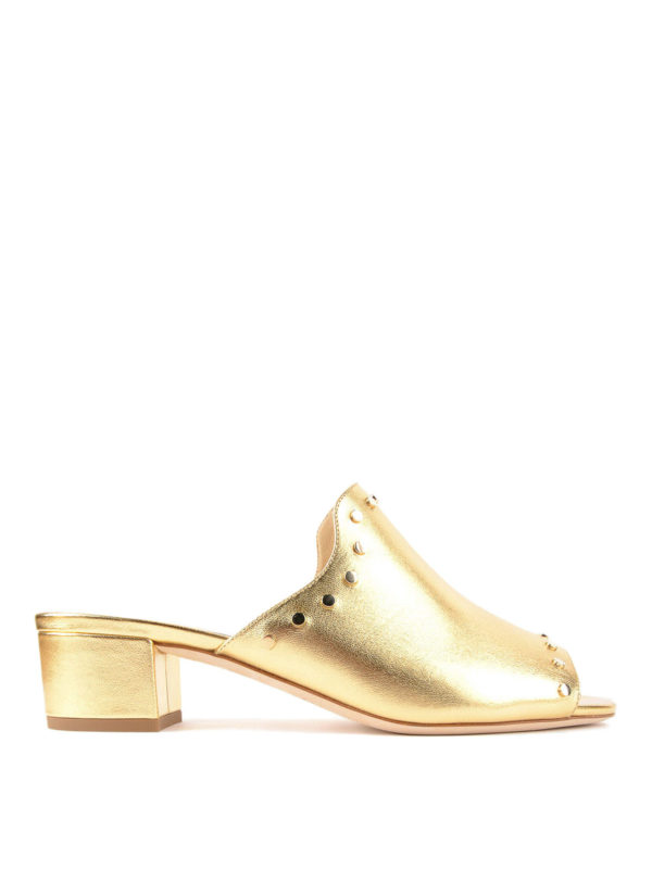 Jimmy Choo: Mules - Mules - Gold