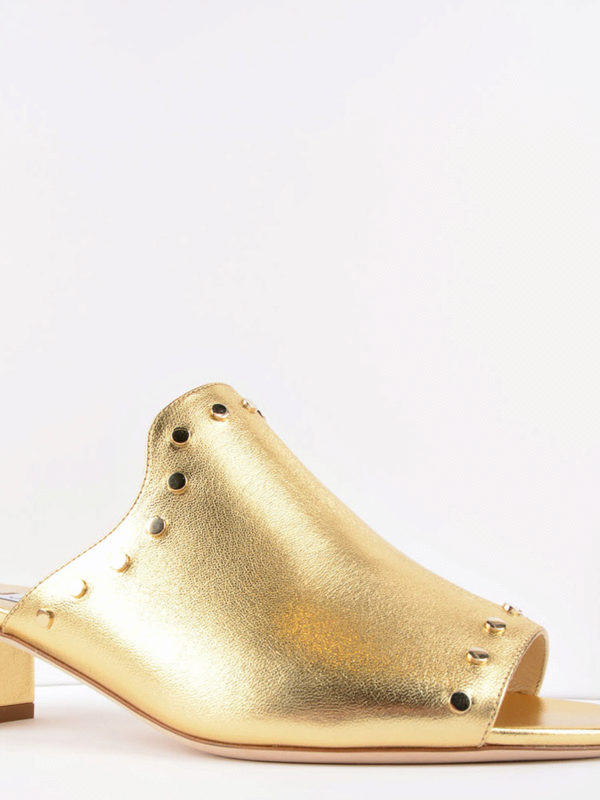 JIMMY CHOO: Mules online - Mules - Gold