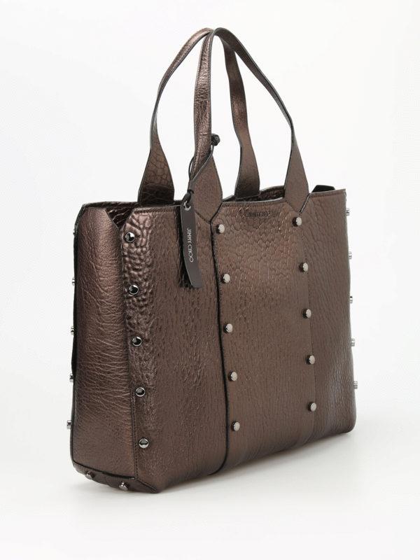 JIMMY CHOO: Handtaschen online - Shopper - Bronze